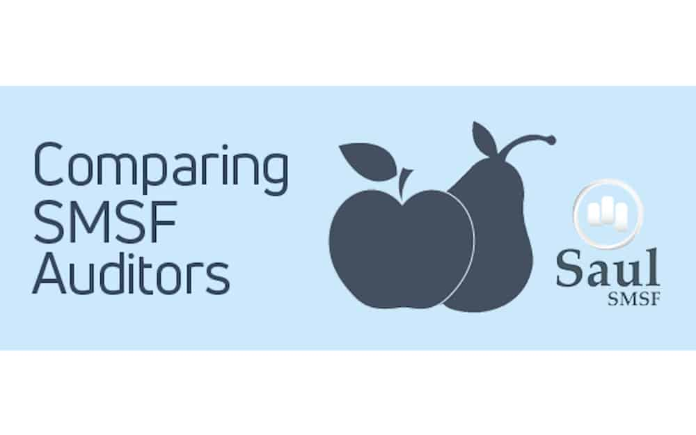 representing apple and pear in comparing SMSF auditors
