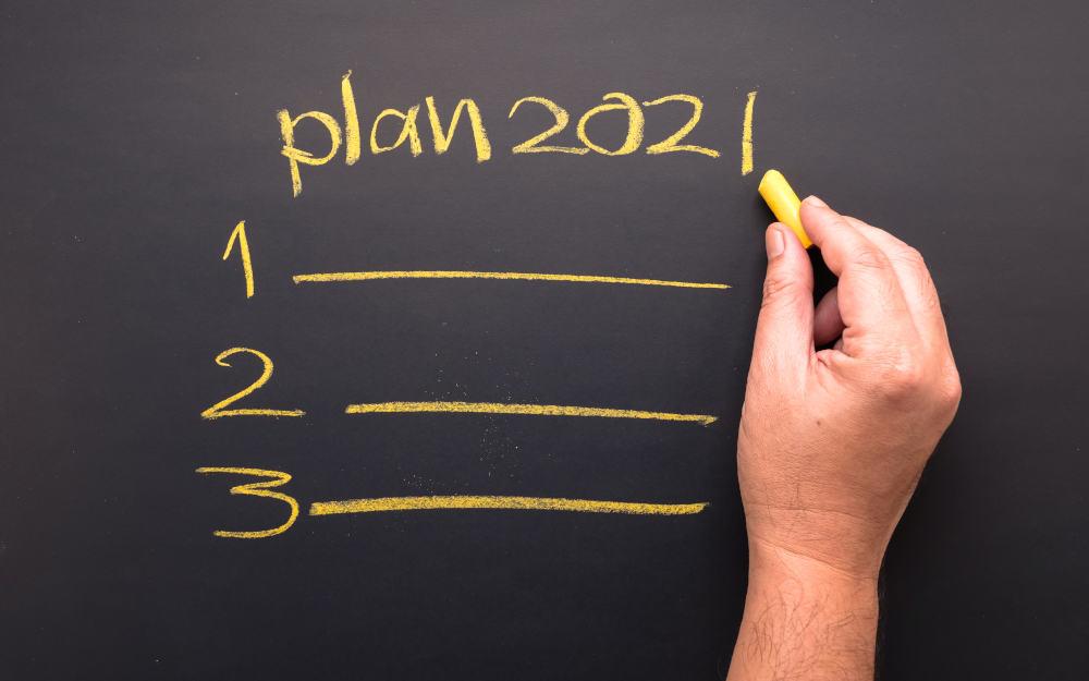 writing 2021 plans in blackboard